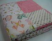 Wingspan Butterflys Minky Blanket  38 x 50 READY TO SHIP On Sale