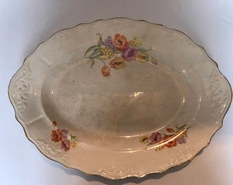 Chatham Poppy Serving Platter Dining Table Decor Vintage Poppies
