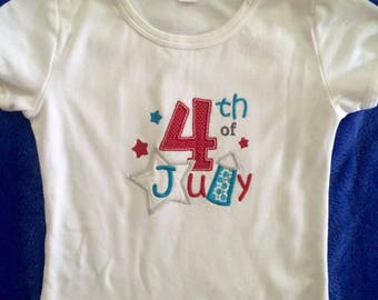 Fourth 4th of July USA patriotic Custom Tee
