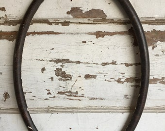 Antique Frame - Oval - 19 x 13 - Faux Tortoise - Distressed