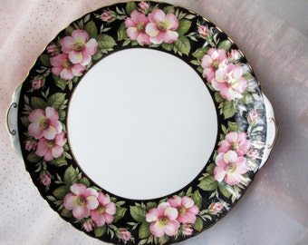 Vintage Serving Platter Royal Albert Provincial Flowers Alberta Rose English Bone China