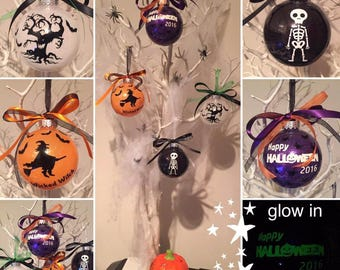 Set of 5 Halloween Bauble Ornaments