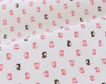 4472 - Night Owl Cotton Jersey Knit Fabric - 61 Inch (Width) x 1/2 Yard (Length)