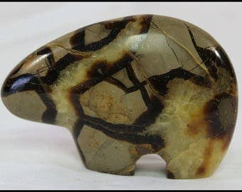 Septarian Dragonstone Bear Fetish Southwest Décor Gifts for Home Wedding Gifts Trendy Office Décor Gifts for Him Birthday Gifts