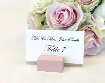 Blush Place Card Holders + Place Card Holder + Blush PInk Wedding Place Card Holders