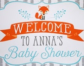 Woodland Baby Shower Welcome Sign - Woodland Welcome Sign - Woodland Baby Shower Door Sign - Printed Woodland Baby Shower Welcome Sign