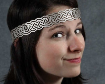 Celtic Knot Headwreath in Gold Leather
