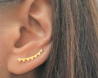 Ear Climber, Chevron Ear Climber, Chevron Earring, Triangle Ear Climber, Triangle Earring, Minimalist Ear Climber, Minimalist Earrings