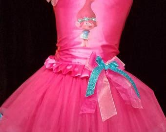 Custom Poppy Trolls tutu Dress up outfit custom sized