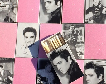 50 ELVIS style Custom Wedding Favor Matchboxes Personalized Custom Sparkler Perfect Match Cigar Bar Art Deco Sparks Flew Bridal Rehearsal