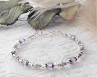 Sale.....One of a Kind Sterling Silver and Swarovski Crystal Bracelet