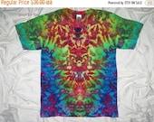 20% off sale tie dye shirt, large inkblot ice dye, tye dye t shirt by gratefuldan