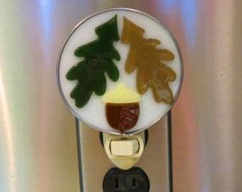 Autumn Night Light - Leaf Nightlight - Acorn Night light - Fall Night Light - Oak Leaf & Acorn Nightlight