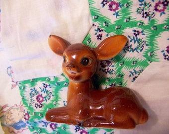 adorable spotted ceramic deer figurine