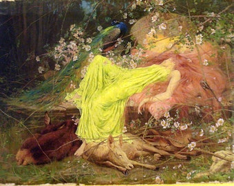 Fairy Tale Princess Wardle Forest Ready to Hang Print Reduxed to Canvas Museum Quality