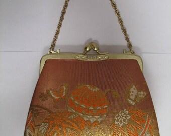 Vintage Japanese Silk Obi Evening Purse
