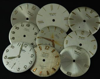 Vintage Antique Watch Dials Steampunk Faces Parts Altered Art Industrial O 94