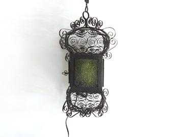 Metal Scrolled Birdcage Hanging Light