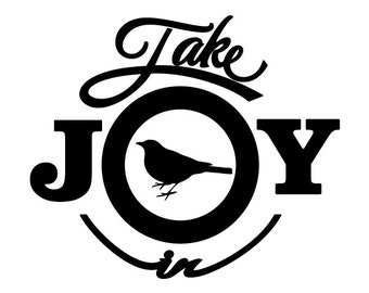 Take Joy In Sparrows Decal