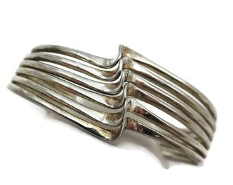 Silver Cuff Bracelet - Modern Jewelry