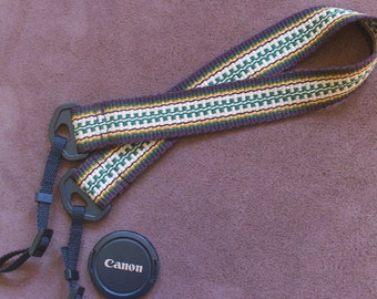 Camera or Binocular Strap Handwoven from Comfortable Cotton