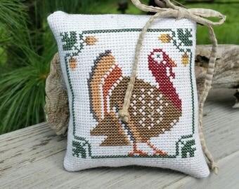 Turkey Cross Stitch Cupboard Tuck Prairie Schooler Home Decor