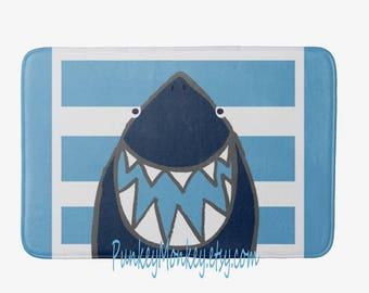 Shark bath mat bath rug sharks memory foam beach bathroom mat for floor 3 sizes to choose from made to order beach pool bedroom plush rug