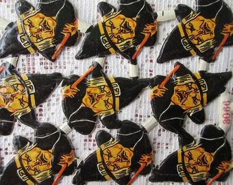 Germany Vintage 19 Halloween Scraps Witches Die Cut Paper  K&L 3066