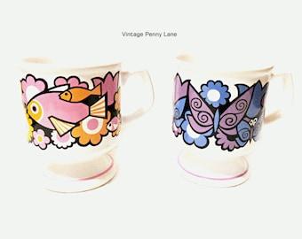 Vintage Ceramic Retro Mugs, Coffee Cups, Sadler England