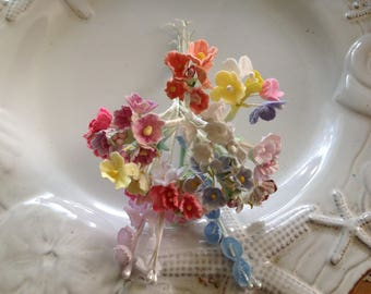 DIY SAMPLER Mothers Day Valentines Day  Easter - Variety Lot  Vintage Millinery  12 Clusters of Forget Me Nots 4 Lily of the Valley - #005