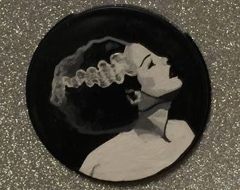 Sposa di Frankenstein specchio compatto verniciato a mano
