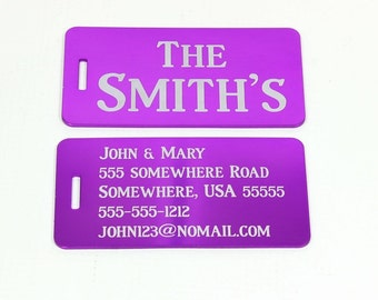 Personalized Luggage Tag,Travel Accessory,Address Tag,Custom Luggage Tag,Custom Luggage Tag,Metal Luggage Tag