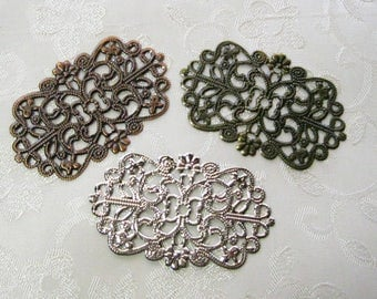 Filigree Pendants Lead Free 49mm x 31mm Mix and Match 545