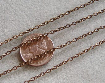Antique Bronze Cross Cable Chain 4mm x 3mm Nickel Free Lead Free 359
