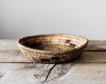 Antique Native American Basket, Vintage Coil Basket,  Vintage Basket, Woven Basket, Storage & Organization, Tohono O'odham Popago Basket