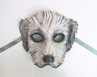 Wheaton Terrier Leather Dog Mask by Teonova wearable art