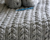 Download Now - CROCHET PATTERN Alpine Cable Blanket - Make to Any Size - Pattern PDF