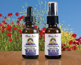 Transformation, Crisis, Flower Essence, Dropper or Spray, Organic, Reiki-Infused North American, Bach Flowers
