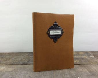 Mustard Yellow Leather address book with tabs
