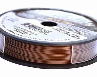 Soft Flex Metallics Copper Beading Wire .019in 30ft Copper Metallics Wire, Soft Flex Wire, Metallics Beading Wire, Medium Soft Flex 42689