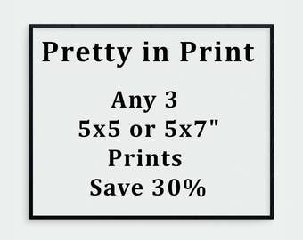 "Any three 5x7 or 5x5"" prints 30% off, your choice. Print Set, Art Collection, 5x7 Print, 5x5 Print, Art Sale, Sale Art, Landscape Photo Sale"