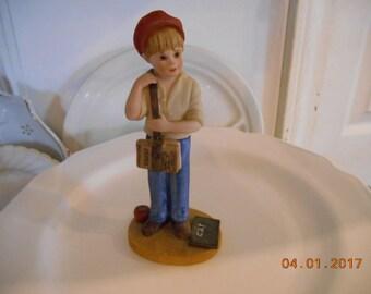 1984-85 Brian Jan Hagara Collection Limited Edition Number 1813 Dist by Royal Orleans B&J Art Designs School Boy Figurine