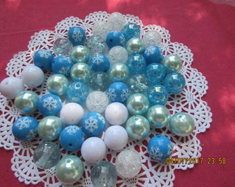 Fantasy Bulk Beads, 50 Beads, 20 MM beads, Party Favor, Necklaces or Bracelets