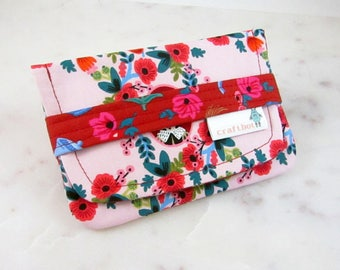 Sanitary Pad Holder, Rifle Paper Co. Wonderland Fabric, Alice, Tampon Case, Sanitary Pad Case, Tampon Holder, Sanitary Napkins, Period Case