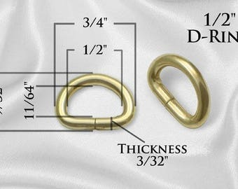 "300pcs - 1/2"" Metal D Rings Dee Rings Non Welded GOLD - Free Shipping (D-RING DRG-102)"