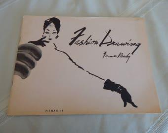 1958 Fashion Drawing by Frances Neady - Vintage Fashion - Vintage Ephemera