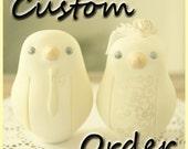 Custom Order Wedding Cake Topper - For maryrosed