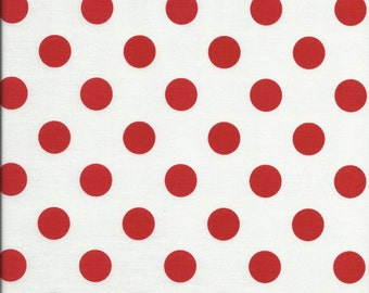 Riley Blake's Medium Red Dots Cotton Fabric ~ per 1/2 yard