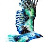 Hawk Spirit Animal Art Pr...