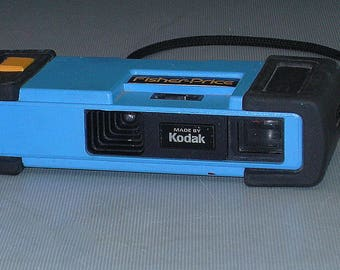 Vintage Working Kodak Fisher Price 110 Film Camera Vivid Blue and Yellow-110 Film is Back!